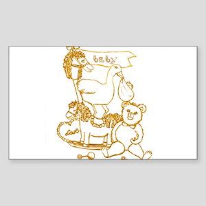 Golden Nursery Toys by Kristie Hubler Sticker (Rec