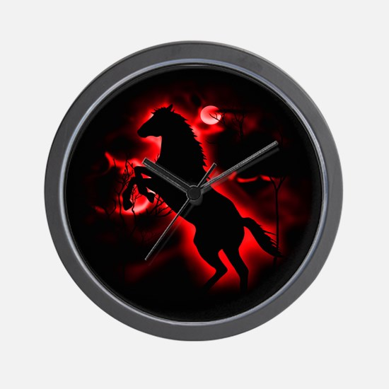 Fire Horse Wall Clock