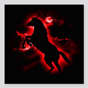 "Fire Horse Square Car Magnet 3"" x 3"""