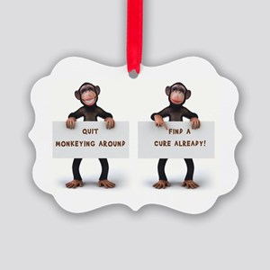 MONKEYING AROUND Picture Ornament