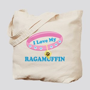 I Love My Ragamuffin Cat Tote Bag