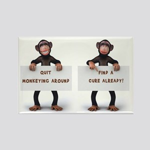 MONKEYING AROUND Rectangle Magnet