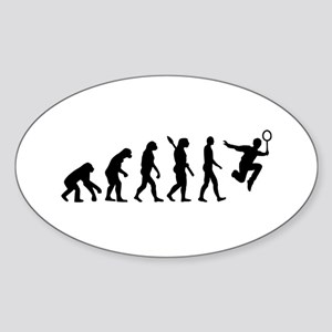 Evolution Badminton Sticker (Oval)