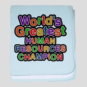 Worlds Greatest HUMAN RESOURCES CHAMPION baby blan