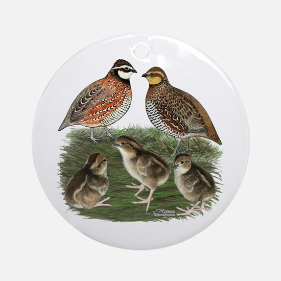 Bobwhite Family Ornament (Round)