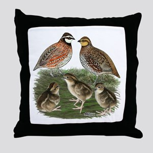 Bobwhite Family Throw Pillow