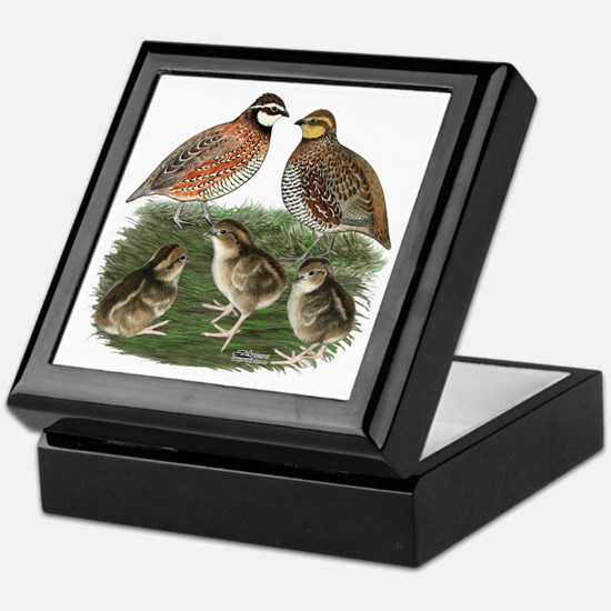 Bobwhite Family Keepsake Box