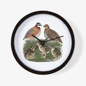 Bobwhite Family Wall Clock