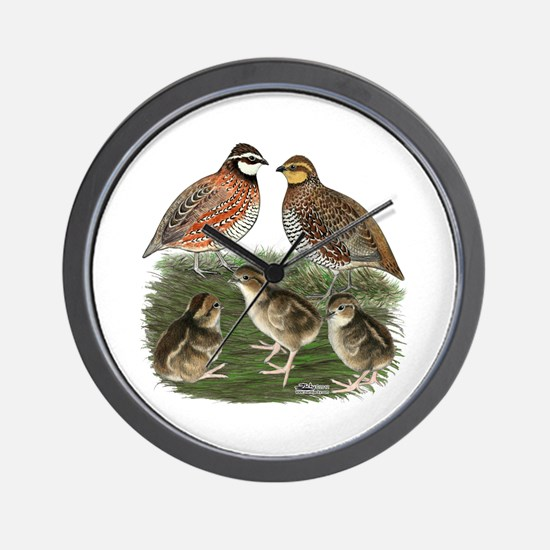 Bobwhite Family Wall Clock