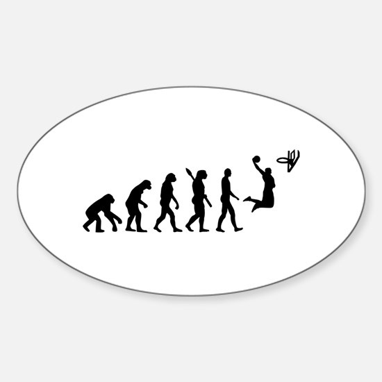Evolution Basketball Sticker (Oval)