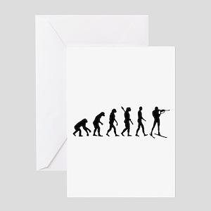 Evolution Biathlon Greeting Card