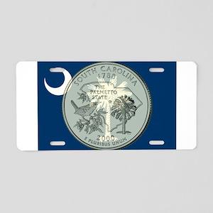 South Carolina Quarter 2000 Aluminum License Plate
