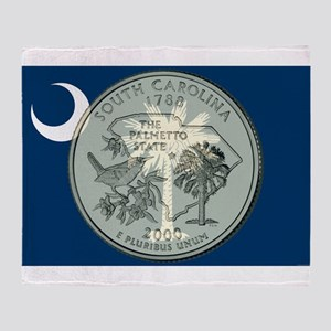 South Carolina Quarter 2000 Throw Blanket