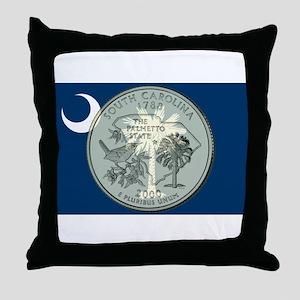 South Carolina Quarter 2000 Throw Pillow