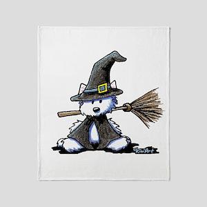 Westie Witch Throw Blanket