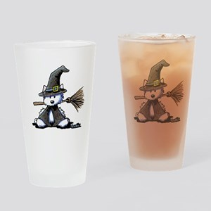 Westie Witch Drinking Glass