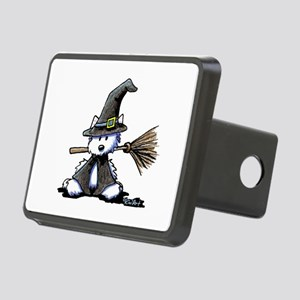 Westie Witch Rectangular Hitch Cover