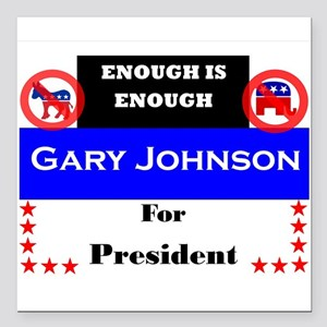 """Gary Johnson for President Square Car Magnet 3"""" x"""