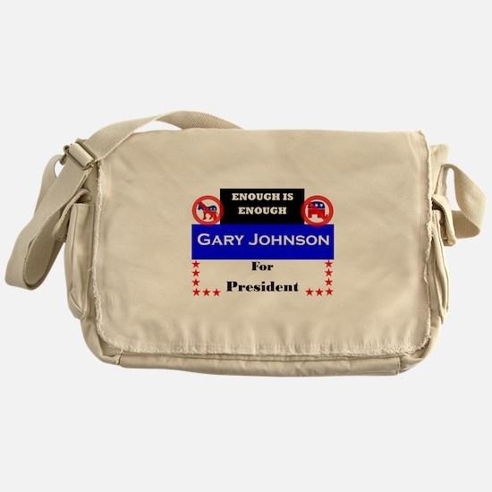 Gary Johnson for President Messenger Bag