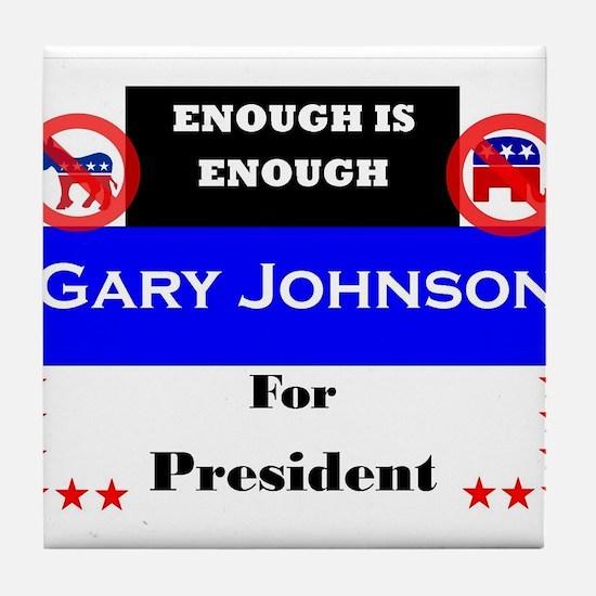 Gary Johnson for President Tile Coaster