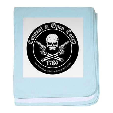 Open Carry & Concealed Carry Logo baby blanket