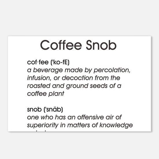 Coffee Snob Postcards (Package of 8)