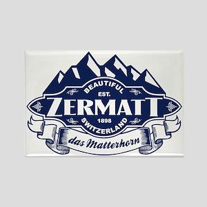 Zermatt Mountain Emblem Rectangle Magnet