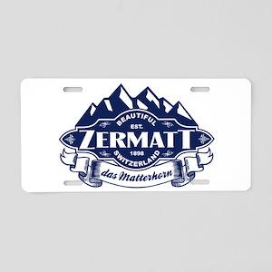 Zermatt Mountain Emblem Aluminum License Plate