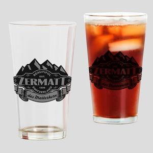 Zermatt Mountain Emblem Drinking Glass