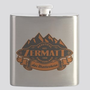 Zermatt Mountain Emblem Flask