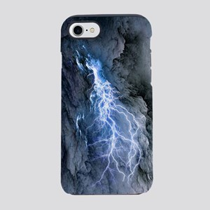 lightning storm in volcano iPhone 7 Tough Case