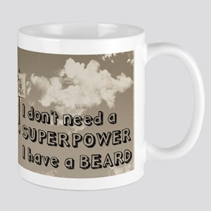 Superpower/beard/sky Mug