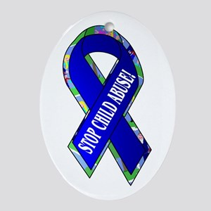 Child Abuse Awareness Oval Ornament