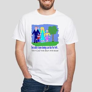 Abuse Awareness White T-Shirt