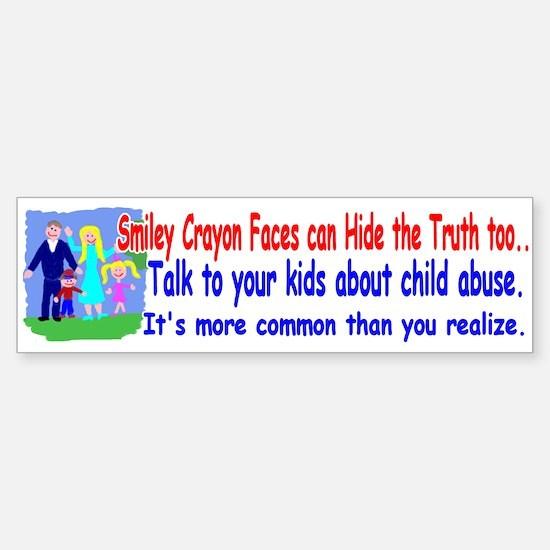 Abuse Awareness Bumper Bumper Bumper Sticker