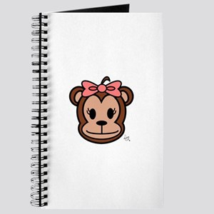 Cute Monkey girl with pink bow Journal
