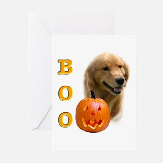 Halloween Golden Retriever Boo Greeting Cards (Pac