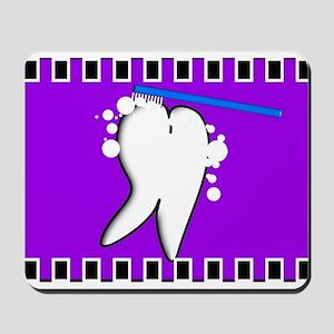 tooth blanket 5 purple Mousepad