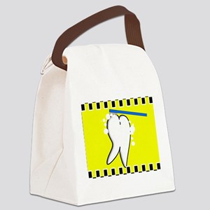 tooth blanket 4 yellow Canvas Lunch Bag