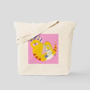 Yellow Baby Kitty Tote Bag