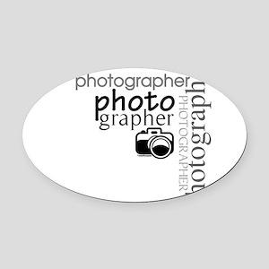 photographer1 Oval Car Magnet