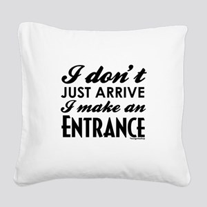 Entrance Square Canvas Pillow