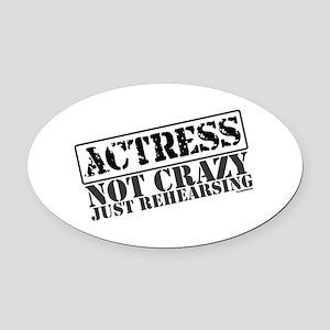 actress Oval Car Magnet