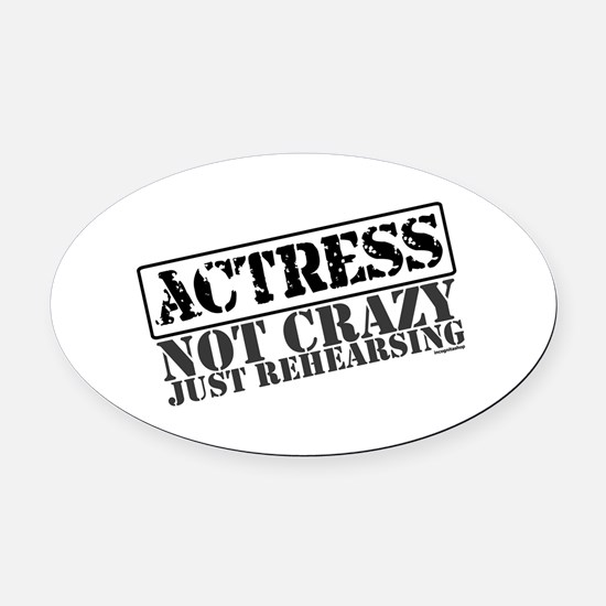 actress.png Oval Car Magnet