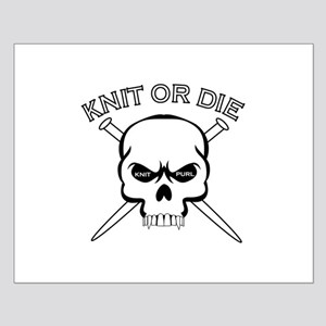 Knit or Die Small Poster
