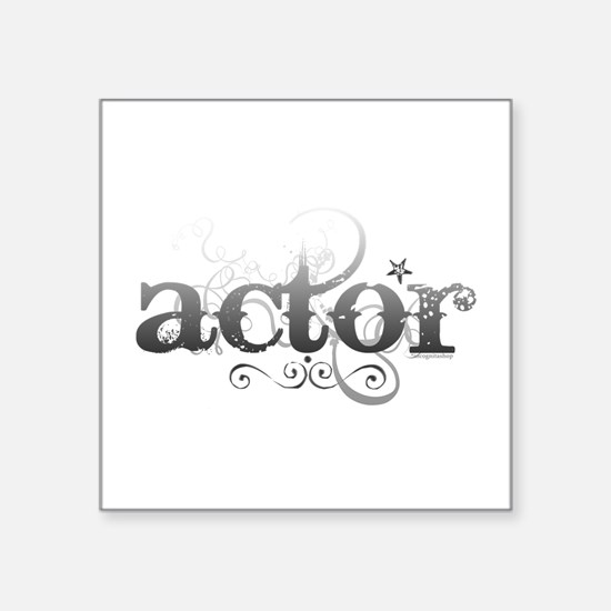 "actor.png Square Sticker 3"" x 3"""