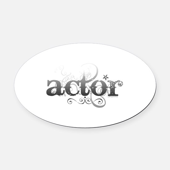 actor.png Oval Car Magnet