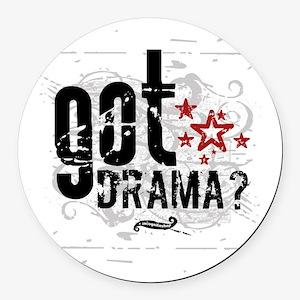 Got Drama Round Car Magnet