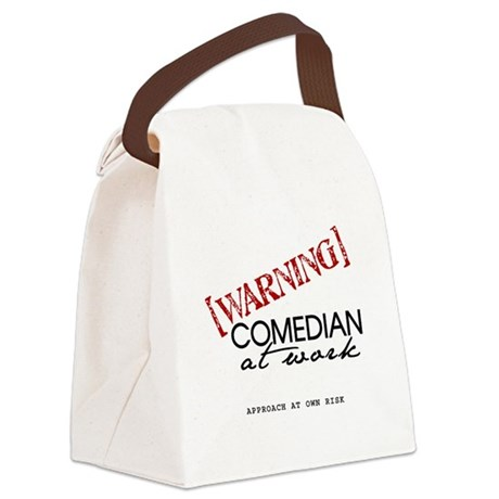 Warning: Comedian Canvas Lunch Bag