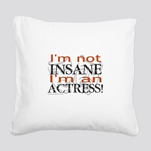 3-t-shirt-black-sally5 Square Canvas Pillow